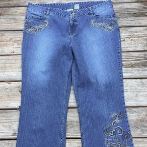 15787076d28 Denim - Massini embroidered jeans size 14